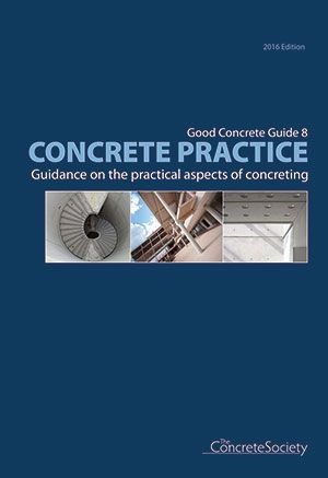 Concrete practice<br>- guidance on the practical aspects of concreting - GCG8
