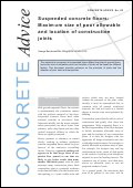 Suspended concrete floors: maximum size of pour allowable and location of construction joints