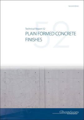 TR52 2nd Edition - Plain formed concrete finishes