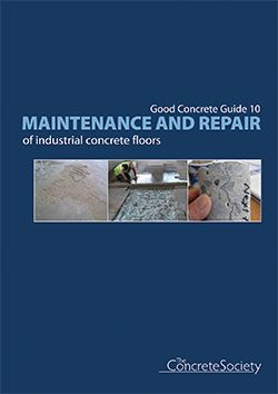 Maintenance and repair of industrial concrete floors - GCG10