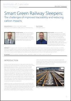 Smart Green Railway Sleepers: The challenges of improved traceability and reducing carbon impacts