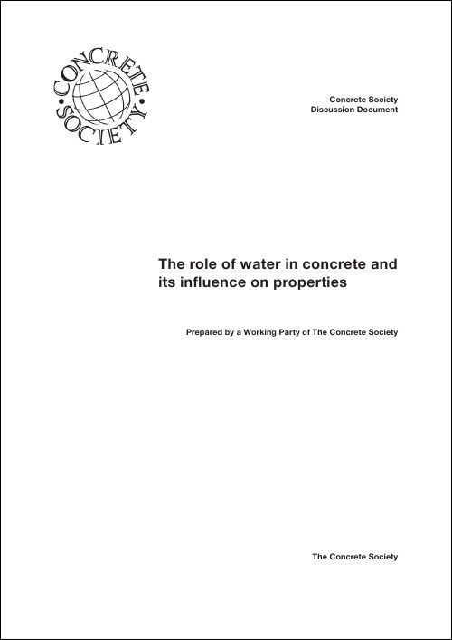 The role of water in concrete and its influence on properties